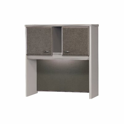 "Series A 36.5"" H x 35.5"" W Desk Hutch Finish: Pewter"