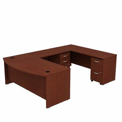 Series C Bow Front U-Shape Executive Desk Color: Mahogany/Mahogany