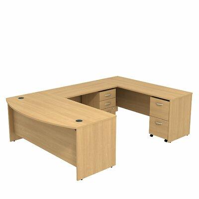 Series C Bow Front U-Shape Executive Desk Color: Light Oak/Light Oak