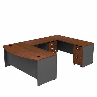 Series C Bow Front U-Shape Executive Desk Color: Hansen Cherry
