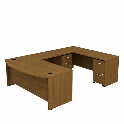 Series C Bow Front U-Shape Executive Desk Color: Warm Oak
