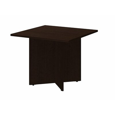 "Square 29.66""H x 35.79""W x 35.79""L Conference Table Finish: Mocha Cherry"