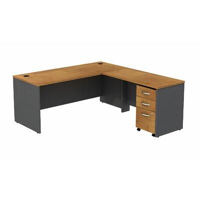 Series C L-Shape Executive Desk Color: Natural Cherry/Graphite Gray