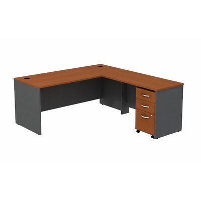 Series C L-Shape Executive Desk Color: Auburn Maple/Graphite Gray