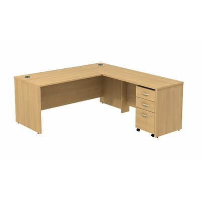 Series C L-Shape Executive Desk Color: Light Oak/Light Oak