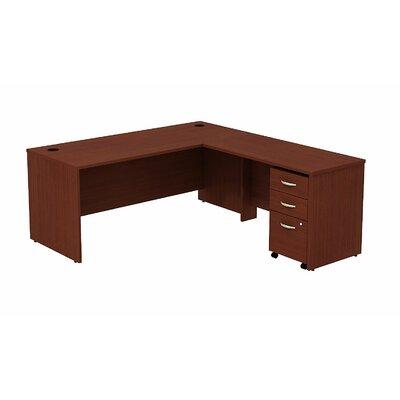 Series C L-Shape Executive Desk Color: Mahogany/Mahogany