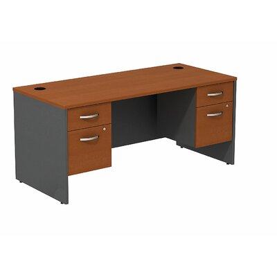 """Series C Executive Desk Color: Auburn Maple/Graphite Gray, Size: 30"""" H x 66"""" W x 30"""" D"""