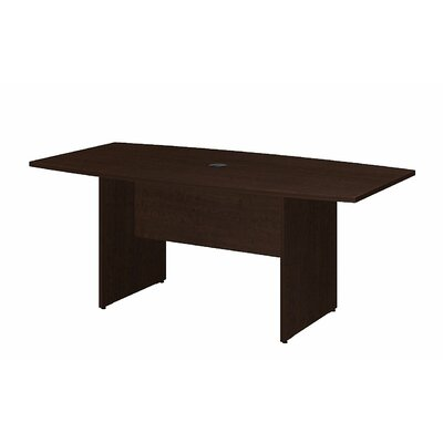 "Boat shaped 28.65""H x 35.98""W x 71.54""L Conference Table Finish: Mocha Cherry"