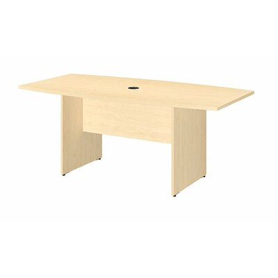 "Boat shaped 28.65""H x 35.98""W x 71.54""L Conference Table Finish: Natural Maple"