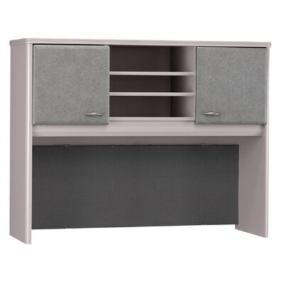 "Series A 36.5"" H x 47.52"" W Desk Hutch Finish: Pewter"