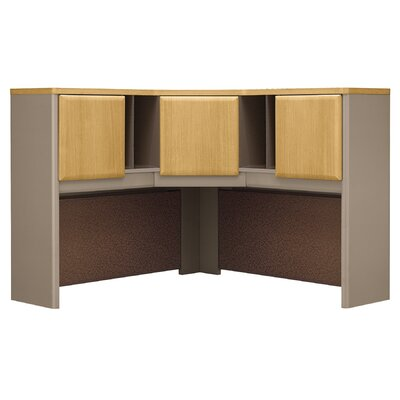 "Series A 36.5"" H x 47.17"" W Desk Hutch Finish: Danish Oak/Sage"