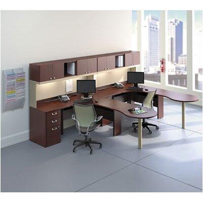 """Quantum 30"""" H x 47.625"""" W Desk Peninsula Color: Hansen Cherry"""