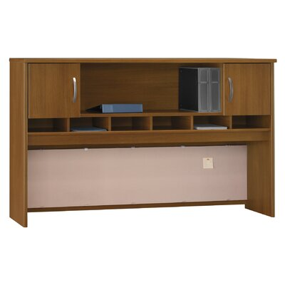 "Series C 43"" H x 71"" W Desk Hutch Finish: Caf Oak"