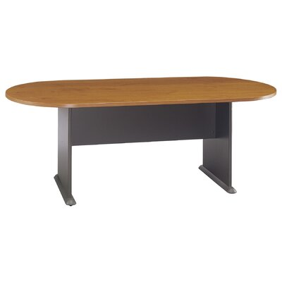 "Racetrack Oval 29.76""H x 34.49""W x 81.54""L Conference Table Finish: Natural Cherry"
