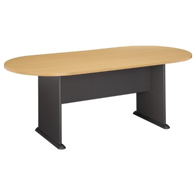 "Racetrack Oval 29.76""H x 34.49""W x 81.54""L Conference Table Finish: Savannah Beech"