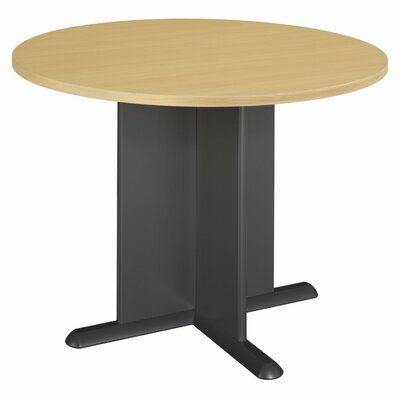 "Fairplex Circular 29.8""H x 41.38""W x 41.38""L Conference Table Finish: Euro Beech/Slate Gray"