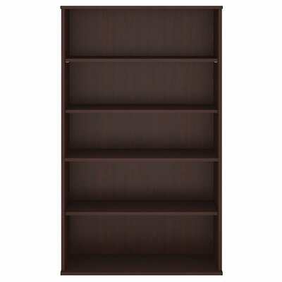 "Standard Bookcase Size: 65.87"" H x 35.71"" W x 15.45"" D, Finish: Harvest Cherry"