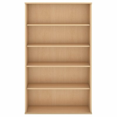 "Standard Bookcase Size: 65.87"" H x 35.71"" W x 15.45"" D, Finish: Natural Maple"