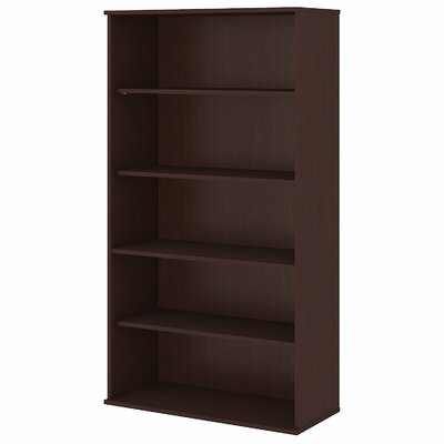 "Standard Bookcase Size: 72.13"" H x 35.71"" W x 15.45"" D, Finish: Harvest Cherry"