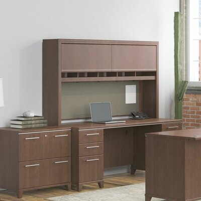 Enterprise Double Pedestal 2 Piece Desk Office Suite Color: Harvest Cherry