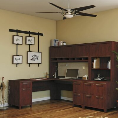 Enterprise 3 Piece L-Shape Desk Office Suite Color: Harvest Cherry
