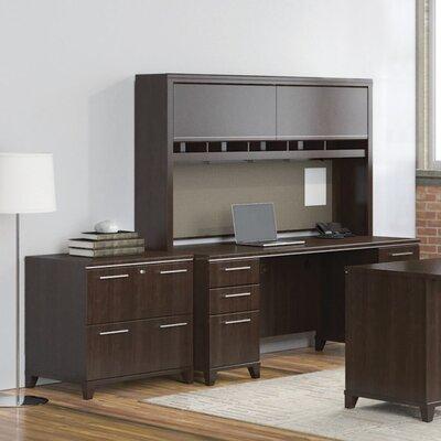 Enterprise Double Pedestal 3 Piece Desk Office Suite Color: Mocha Cherry