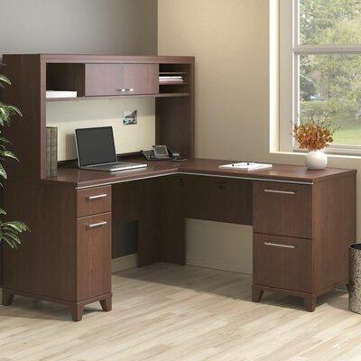 Enterprise Corner 2 Piece L-Shaped Desk Office Suite Color: Harvest Cherry
