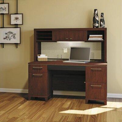 Enterprise Double Pedestal 3 Piece Desk Office Suite Color: Harvest Cherry