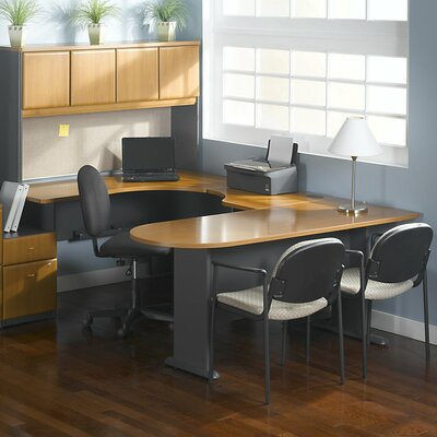 "Series A 29.8"" H x 29.45"" W Desk Peninsula Finish: Natural Cherry"