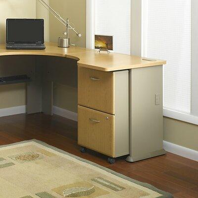 "Series A 29.8"" H x 29.45"" W Desk Peninsula Finish: Light Oak"