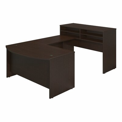 Series C Elite 2 Piece U-Shape Desk Office Suite Color: Mocha Cherry
