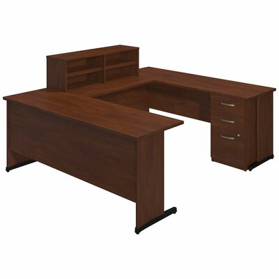 Series C Elite 4 Piece U-Shape Desk Office Suite Color: Hansen Cherry