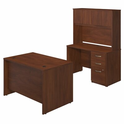 Series C Elite 4 Piece Desk Office Suite Color: Hansen Cherry