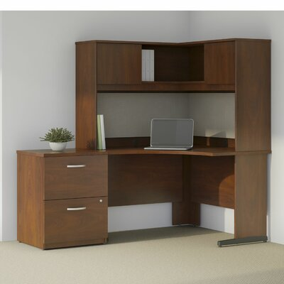 Series C Elite 4 Piece L-Shape Desk Office Suite Color: Hansen Cherry