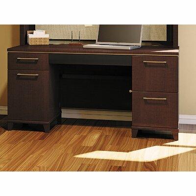 Enterprise Double Pedestal Office Executive Desk Color: Mocha Cherry