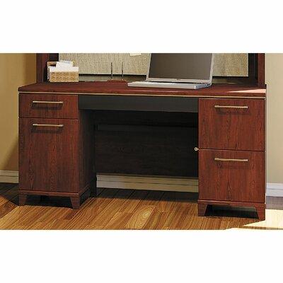 Enterprise Double Pedestal Office Executive Desk Color: Harvest Cherry