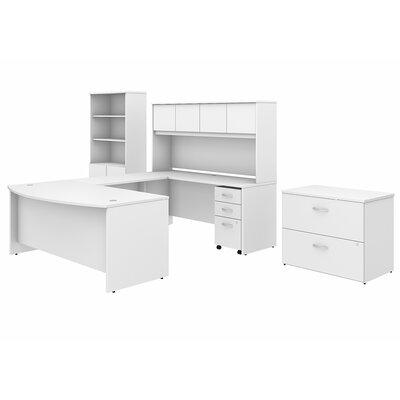 Studio C U-Shaped Desk Office Suite with Hutch