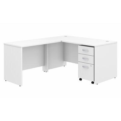 Studio C 3 Piece L Shaped Desk Office Suite Color: White