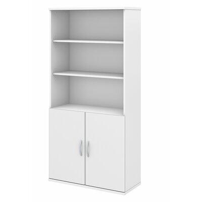 Studio C 5 Shelf Standard Bookcase Color: White