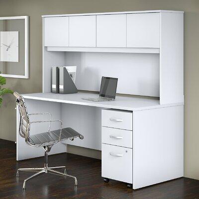 Studio C 3 Piece Desk Office Suite Color: White