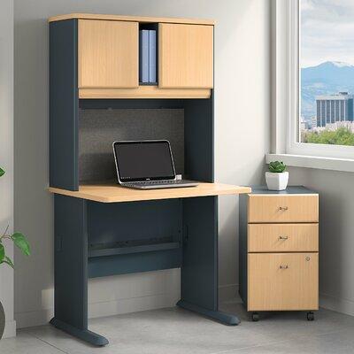 Series A 3 Piece Desk Office Suite Color: Beech