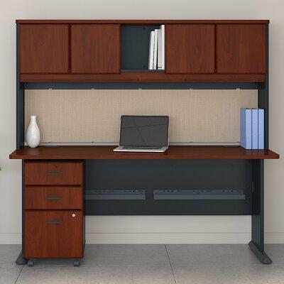 Series A 3 Piece Desk Office Suite Color: Hansen Cherry