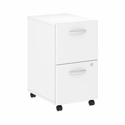 Studio C 2-Drawer Mobile Vertical Filing Cabinet Color: White