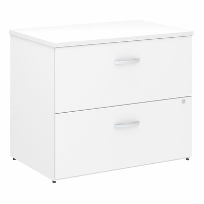 Studio C 2-Drawer Lateral Filing Cabinet Color: White