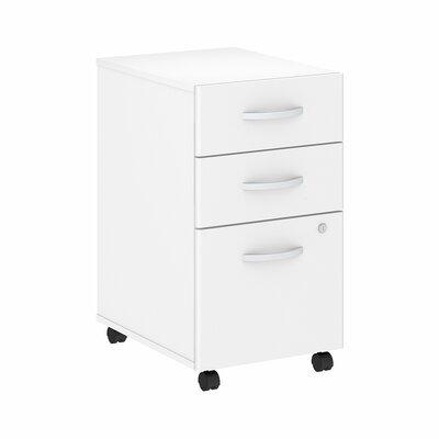 Studio C 3-Drawer Mobile Vertical Filing Cabinet Color: White