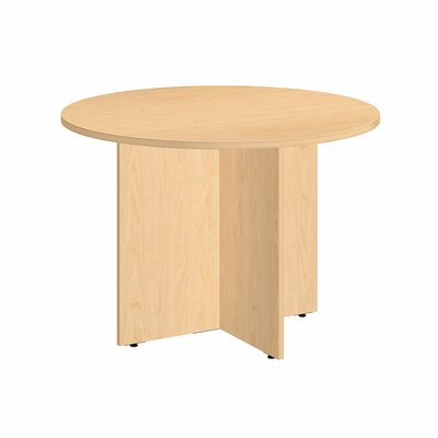 "Circular 29.66""H x 41.38""W x 41.38""L Conference Table Finish: Natural Maple"