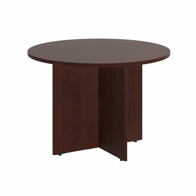 "Circular 29.66""H x 41.38""W x 41.38""L Conference Table Finish: Harvest Cherry"