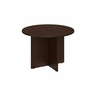 "Circular 29.66""H x 41.38""W x 41.38""L Conference Table Finish: Mocha Cherry"
