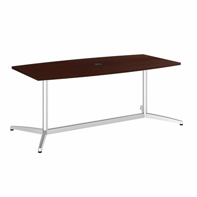 Eden 60000 Series Boat Shaped Conference Table Top Finish: Harvest Cherry, Size: 6' L