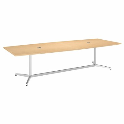 Eden 60000 Series Boat Shaped Conference Table Top Finish: Natural Maple, Size: 10' L